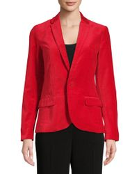 Zadig & Voltaire Vero Velvet Cotton Jacket - Red