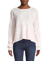 360cashmere Women's Printed Cashmere Sweater - Cantaloupe - Size S - White
