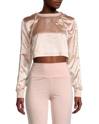 Kappa Women's Juicy Couture X Eres Satin Hoodie - Mint Black - Size M - Pink
