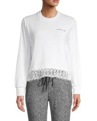 The Kooples Lace-trim Jumper - White