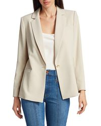 Alice + Olivia Women's Bergen Loose Blazer - Taupe - Size L - Natural