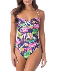 La Blanca - Bora Bora One-piece Bandeau Swimsuit - Lyst