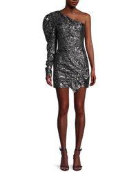 IRO Myriad Leopard Silk-blend Mini Dress - Black