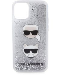 Karl Lagerfeld Liquid Glitter Iphone 12 Mini Case - Multicolour