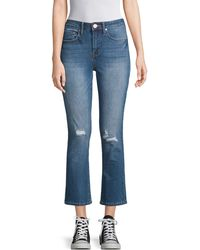 Seven7 High-rise Flared Cropped Jeans - Blue