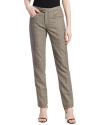 Johanna Ortiz Raise The Green Roof Wool Check Pants - Gray