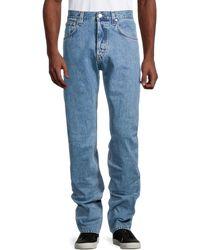 Helmut Lang Mid-rise Logo Jeans - Blue