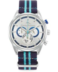 Tommy Bahama South Bay Stainless Steel & Nylon-strap Chronograph Watch - Blue
