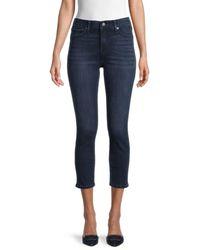 True Religion Women's Halle High-rise Contour Capri Skinny Jeans - Smoke - Size 26 (2-4) - Blue