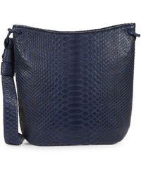 Nancy Gonzalez Python Shoulder Bag - Blue