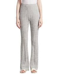 Elizabeth and James Joan Slim Flare Ribbed Trousers - Grey