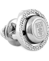 Ermenegildo Zegna Silvertone Rotating Sphere Pin - Multicolor