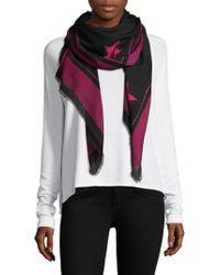 Givenchy - Rottweiler Star Wool & Silk Scarf - Lyst