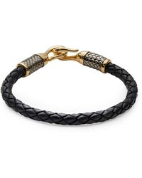 Effy Sterling Silver & Leather Tennis Bracelet - Black