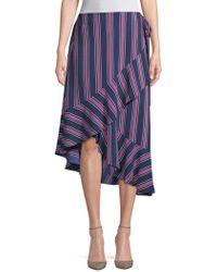 Laundry by Shelli Segal - Asymmetric Flounce Hem Skirt - Lyst
