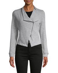 BB Dakota Zip-front Knit Jacket - Grey
