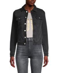 Zadig & Voltaire Punk Zip-up Denim Jacket - Black