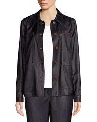 Lafayette 148 New York Esmeralda Denim Jacket - Black