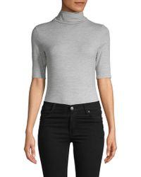 Felina Classic Turtleneck Bodysuit - Gray