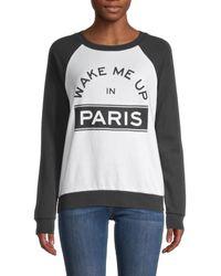 South Parade Graphic Print Raglan-sleeve Sweatshirt - Black