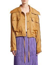 Rachel Comey Embed Satin Cargo Jacket - Metallic