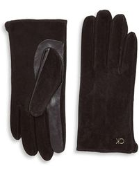 Calvin Klein Suede Gloves - Black