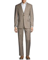 Tommy Hilfiger Regular-fit Windowpane Wool-blend Suit - Multicolor
