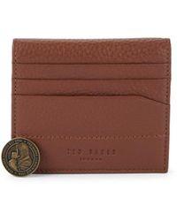 Ted Baker Men's Leather Bi-fold Card Case - Tan - Brown