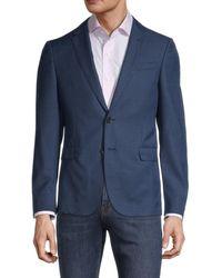 BOSS by HUGO BOSS Nobis Regular-fit Melange Wool Blazer - Blue