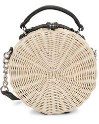Calvin Klein Straw Crossbody Bag - Natural