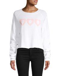 Wildfox - Cropped Graphic Sweatshirt - Lyst