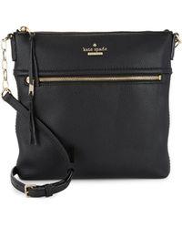 Kate Spade Jackson Street Melisse Leather Crossbody Bag - Black