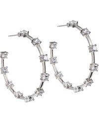 Saks Fifth Avenue Cubic Zirconia Rosetone Crisscross Bracelet - Multicolour