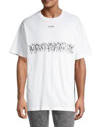 Off-White c/o Virgil Abloh Futura Atoms Graphic Logo T-shirt - White
