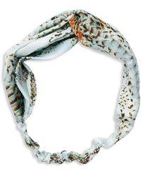Ava & Aiden Snakeskin-print Headband - Blue