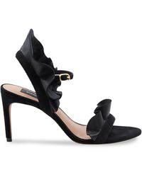 BCBGMAXAZRIA Sabrina Leather Sandals - Black