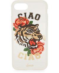 Sonix Ciao Ciao Tiger-print Iphone 7 Case - White