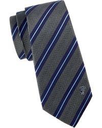Versace Dual Striped Silk Tie - Purple