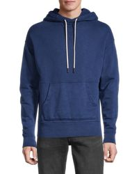 Joe's Jeans Cotton French Terry Hoodie - Blue