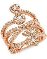 Effy 14k Rose Gold Diamond Wrap Ring - Metallic
