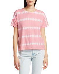 Rails Women's Roman Tie-dye T-shirt - Pink Waves - Size Xs