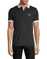 BOSS by Hugo Boss - Men's Logo-patch Cotton Polo - Black - Size S - Lyst