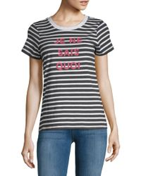 French Connection - Je Ne Said Quoi Cotton Tee - Lyst