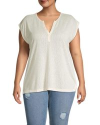 B Collection By Bobeau Plus Holland Dolman-sleeve Top - White