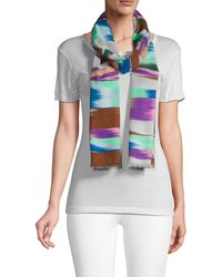 Missoni Abstract-print Cotton Scarf - Blue