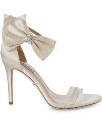 Badgley Mischka Fran Embellished Bow High-heel Sandals - White