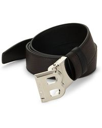 Bally B-buckle Leather Belt - Brown
