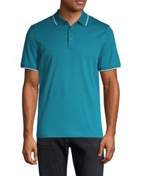 Michael Kors Men's Short-sleeve Cotton Polo - Black - Size M