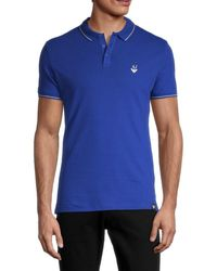 Armani Jeans Tipped Slim-fit Stretch Polo - Blue