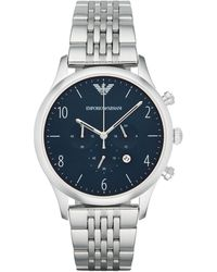 Emporio Armani Beta Stainless Steel Chronograph Watch - Metallic